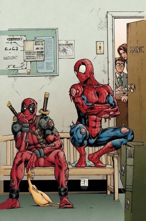 Damnit Deadpool. not oc but you gotta love Deadpool!. rubber chicken