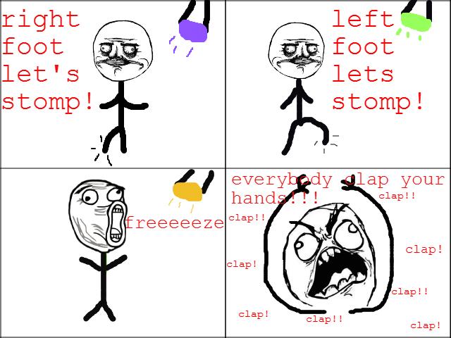 Dance!. always happens. y lap yen: clap!! Dance! always happens y lap yen: clap!!