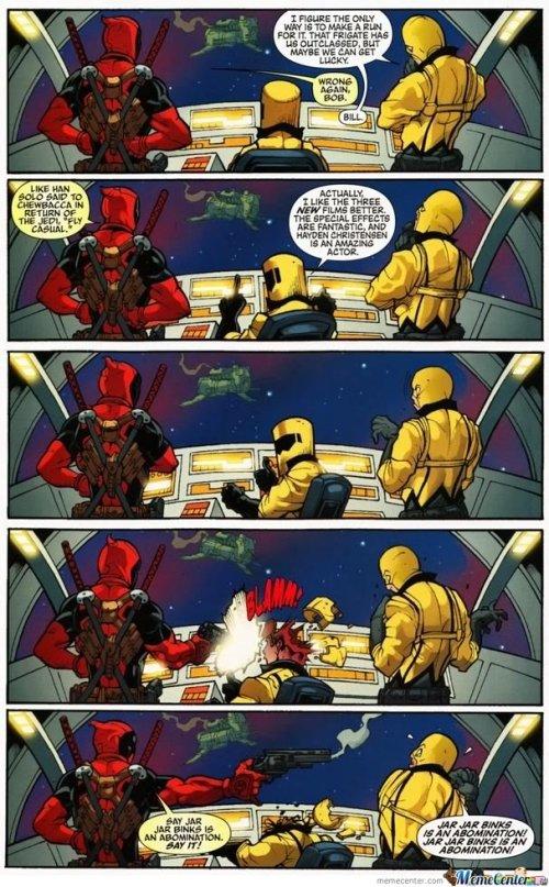 Dat trilogy. . Deadpool star wars