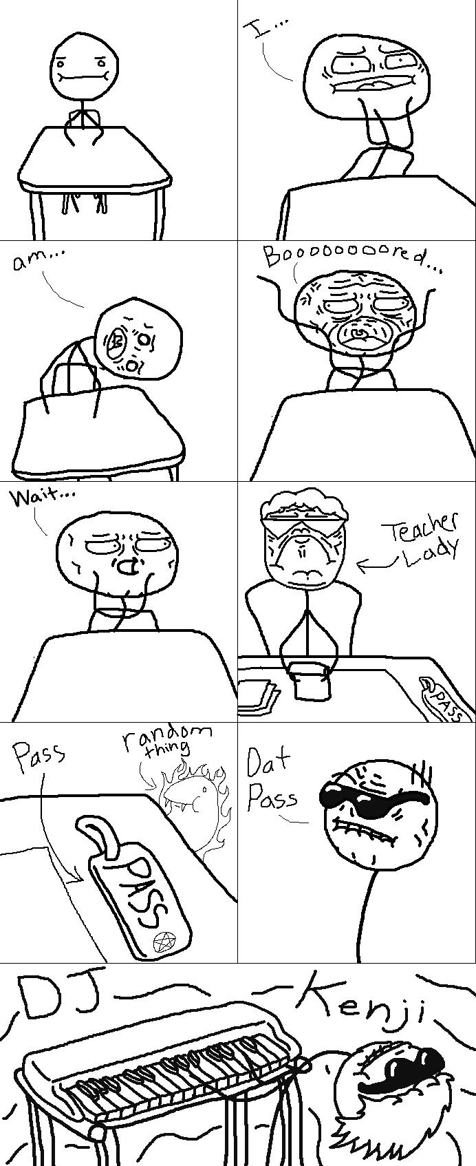 """Dat Pass. Yeah, another comic, of """"Dat Ass"""" meme made by me D. Dat Ass Pass Gan"""