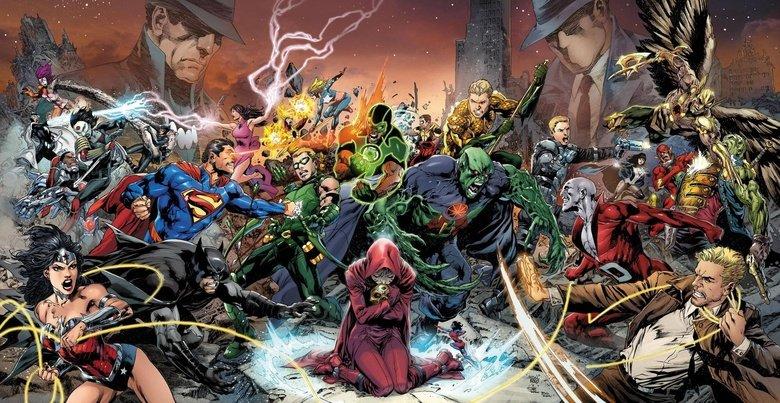 DC Trinity War Wallpaper. Spread from DCs Trinity War promotion.. I feel sorry for Deadman, he's up against a pissed off Martian. DC Trinity War batman Superman the atom martian manhunte
