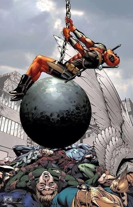 deadpool. .. Deadpool is my hero...or villain... it, he's both. deadpool Deadpool is my hero or villain it he's both