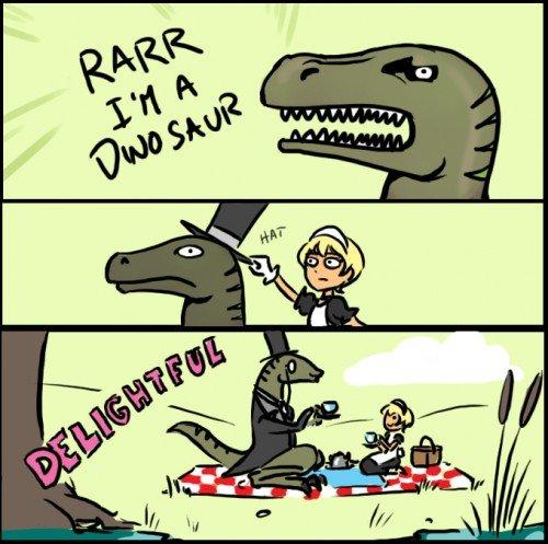 Delightful Dinosaur.. .. And the philosorapter was born! Delightful Dinosaur And the philosorapter was born!