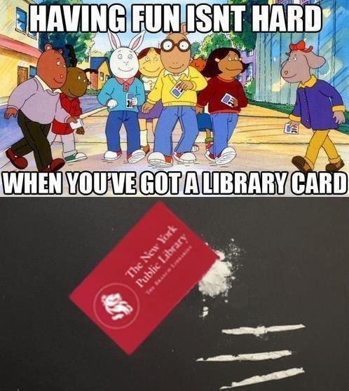 Dem Aardvarks. .. lol it sure looks alot more like flour than any coke ive seen library card arthur