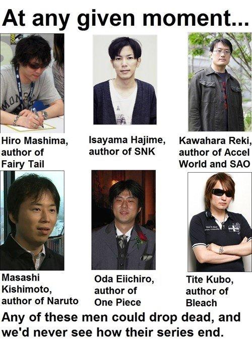 Dem authors doe. hwut. At any given momenta. Hajime, Kawahara Reki, author of author of SNK author of Fairy Tail World and who on Eiichiro, Tite Kubo, Kishimoto manga