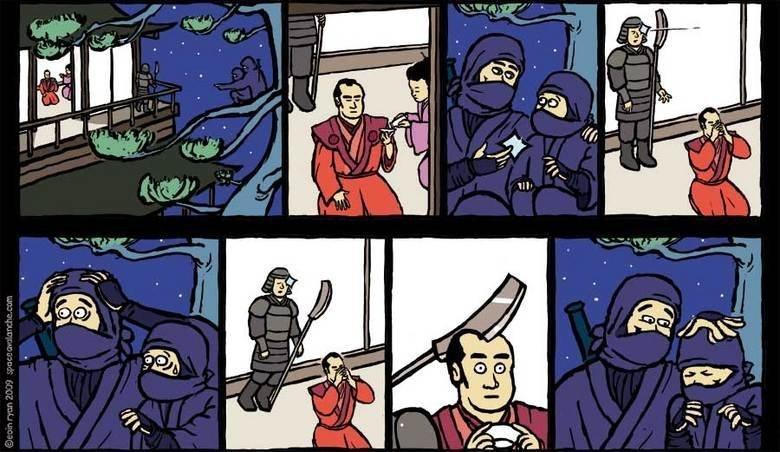 Dem ninjas. . Retoast