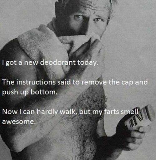 Deodorant. .. he looks like George w bush Deodorant he looks like George w bush