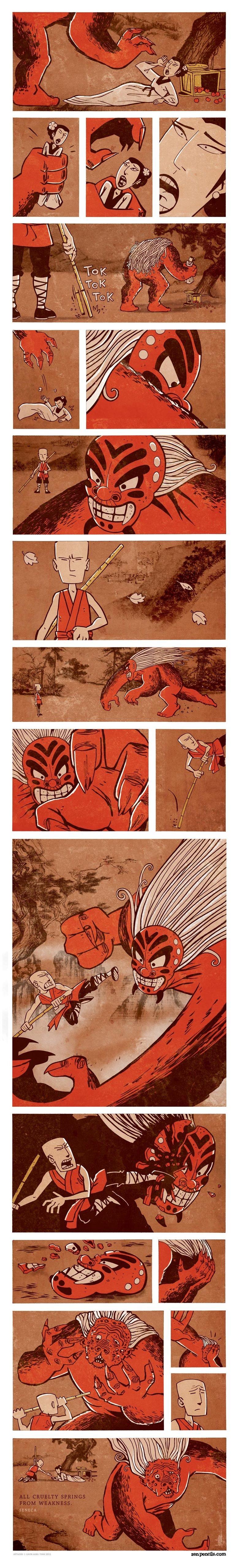 Devils. zenpencils.com/.. kinda looks like Master Monk Guan zen
