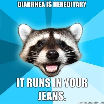 Diarrhea. .. i love puns :D pu racoon diarrhea diarhea