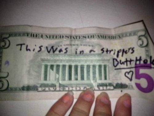 Dirty Money. . MII i' Itll' I ll I HI s, gliter mm ii' filki, ii' rir.. 50 bucks. brown note