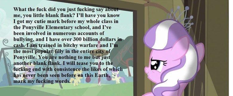 Don't mess with Diamond Tiara. Diamond Tiara version of internet tough guy. ponies internet tough guy diamond tiara