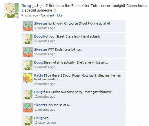 Doo do doo doo do. Nanananana na na. Doug Just got 2 tickets to the fleets Killer Tofu concert tonight! Gonna invite a special someone :) chours ago , Comment . Doo do doo Nanananana na Doug Just got 2 tickets to the fleets Killer Tofu concert tonight! Gonna invite a special someone :) chours ago Comment