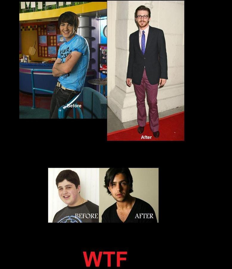 Drake and josh : Before and after. WTF. After. Drake: hot->ugly Josh: ugly-> hot Haha drake Josh LOLWUT ha ha glasses