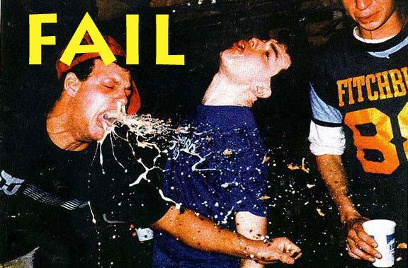 Drunken Fail. . drunk puking