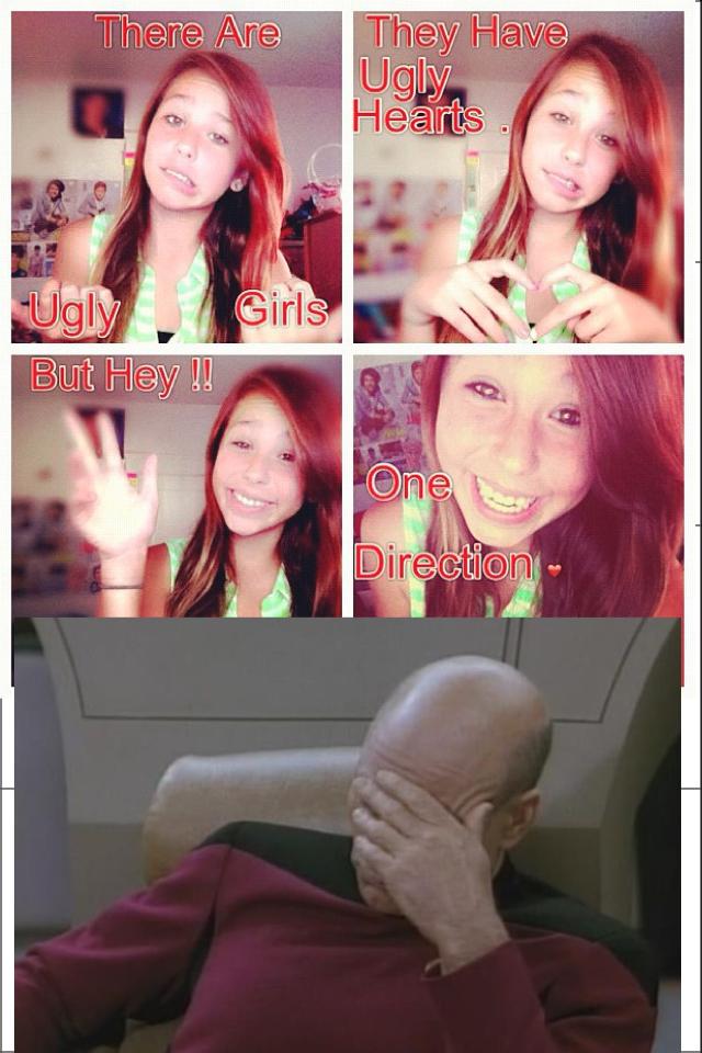 Dumb tween girls. wish I could slap through facebook posts.. instagram Stupid