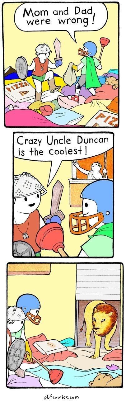 Duncan is best uncle. .. wat Duncan is best uncle wat