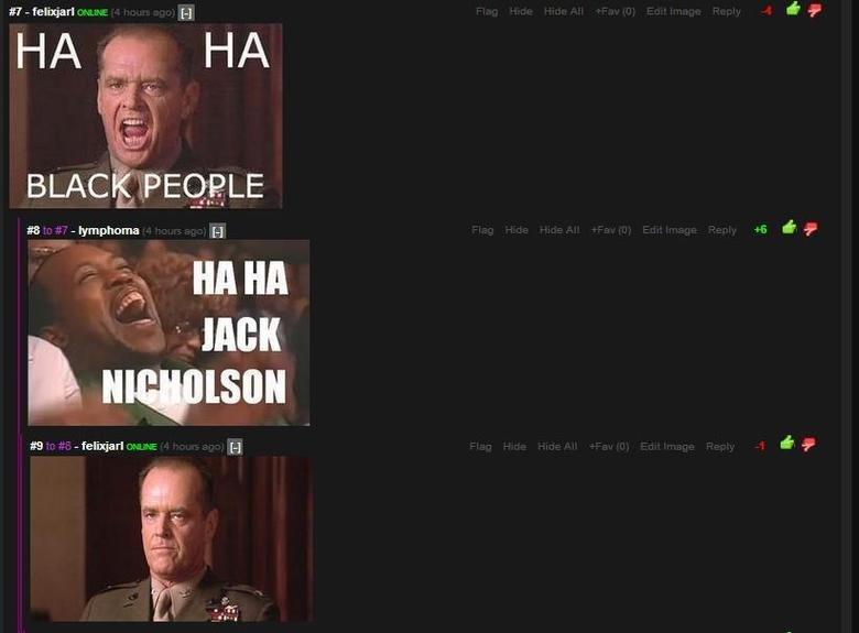 "ha ha black people. . titt. i BLACK Peti) 3 - phome lal HA HA fel ""ad"