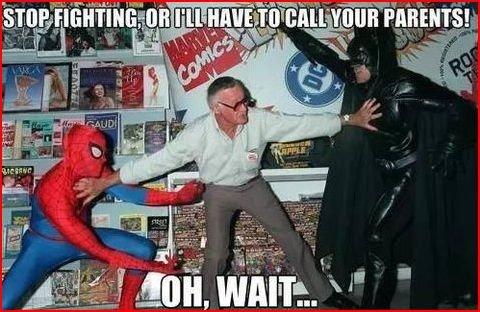 haha. . JEF- uh J f I. U ill It I Alik h I. mutha Stan Lee Spiderman batman funny