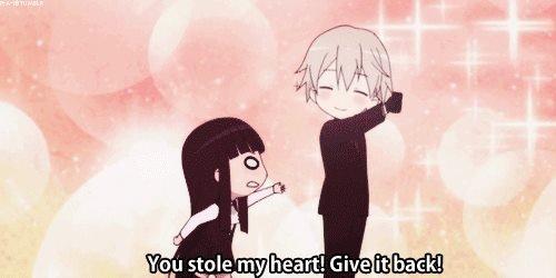 Hahaha ! kawaii :)). Anime : Inu X Boku SS. Anime funny Love
