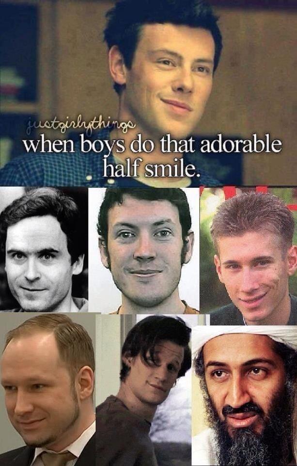 Half smile. . Half smile