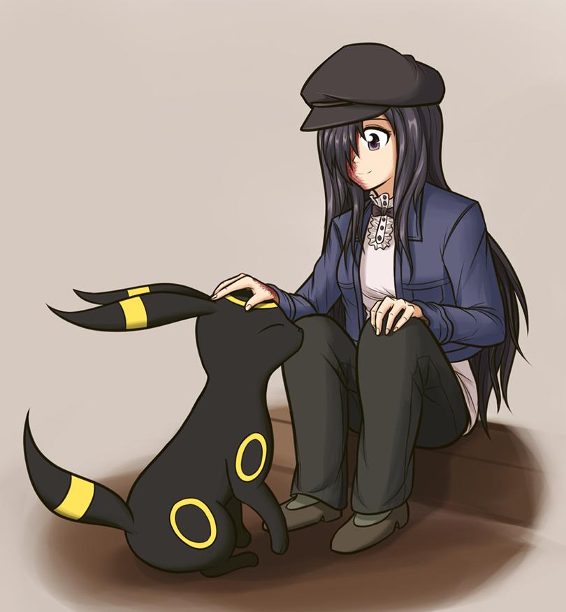 Hanako and Umbreon. She always looks so cute :3.. I love these pokemon pics. Hanako and Umbreon She always looks so cute :3 I love these pokemon pics