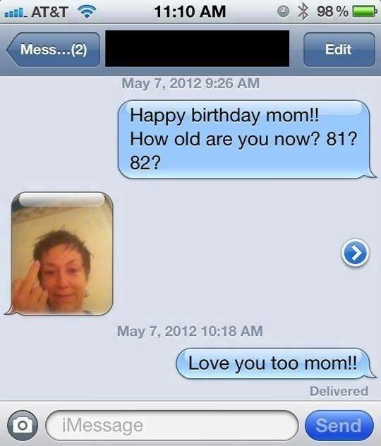 Happy Birthday Mom!. . May 7, 2012 9: 26 AM. She looks stoned. Happy Birthday Mom! May 7 2012 9: 26 AM She looks stoned