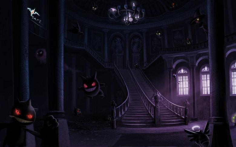 Haunted Mansion. .. C'mon, team. Let's get 'em! Pokemon