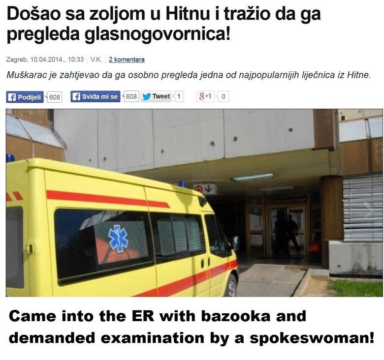 Healthcare in Serbia. Source: dnevnik.hr/vijesti/svijet/usetao-sa-zoljom-u-hitnu-i-trazio-da-ga-pregleda-glasnogovornica---331130.html. Dogan volcom u Hitsu i t Healthcare in Serbia Source: dnevnik hr/vijesti/svijet/usetao-sa-zoljom-u-hitnu-i-trazio-da-ga-pregleda-glasnogovornica---331130 html Dogan volcom u Hitsu i t