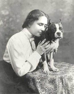 "Helen Keller and her cat, ""Mittens"". Source: Imgur. Helen Keller and her cat ""Mittens"" Source: Imgur"