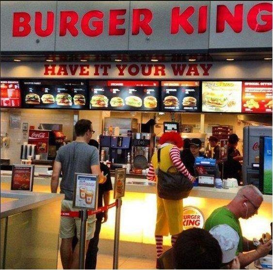 Hello Ronald McDonald. whatcha doooin. betrayed mcdonal