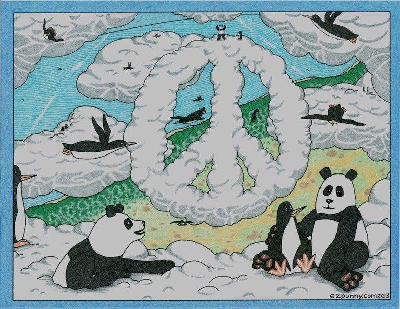 High Penguins & Pandas. Hi. ( 4 cloud pandas / 20 flying penguins ) Have a good 4/20.. four twenty flying penguins cloud pandas