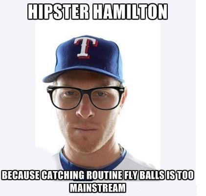 Hipster Hamilton. mormons. Baseball rangers mormons fail