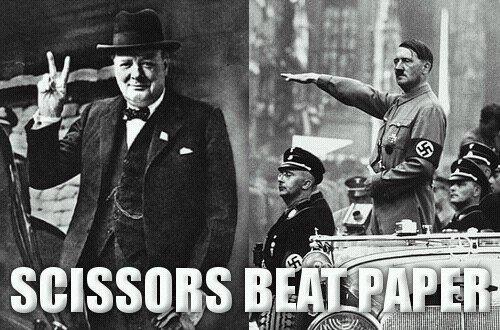 Hitler paper fails. ..  Hitler