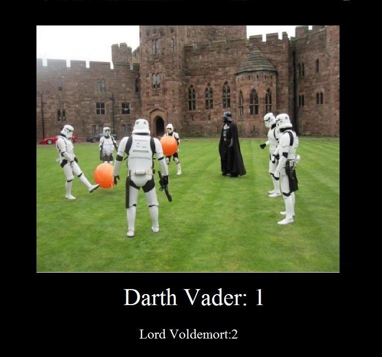 Hogwarts!. Lol.. Darth Vader: I Darth Vader voldemort