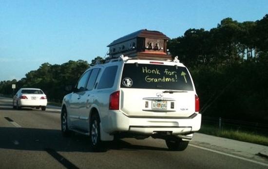 Honk for grandma. . interesting honk title