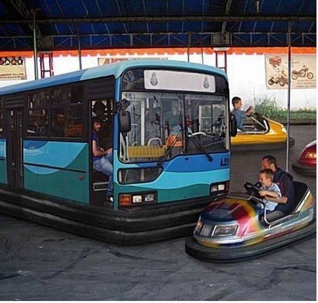 Honk Honk!. .. Like a bus. bump