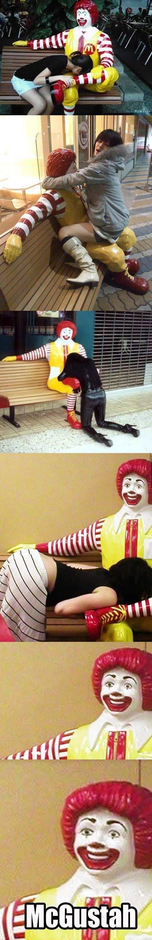 Horny Ronald. look at the joy he is having.. i came buckets asdasdasdasd