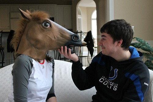 horse head mask. horse head mask . ash ketchum cost