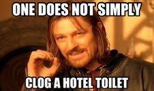 Hotel Toilet. hoop a doop doop deep. BIBS , Mlm.. Well.... I sorta have?.... boromir hotel toilet