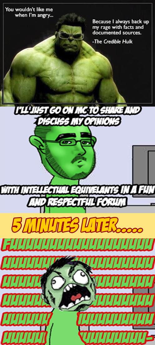 Hulk on le interwebz. inb4 rage for using maymays. align Hulk The Incredible H internet Argumen