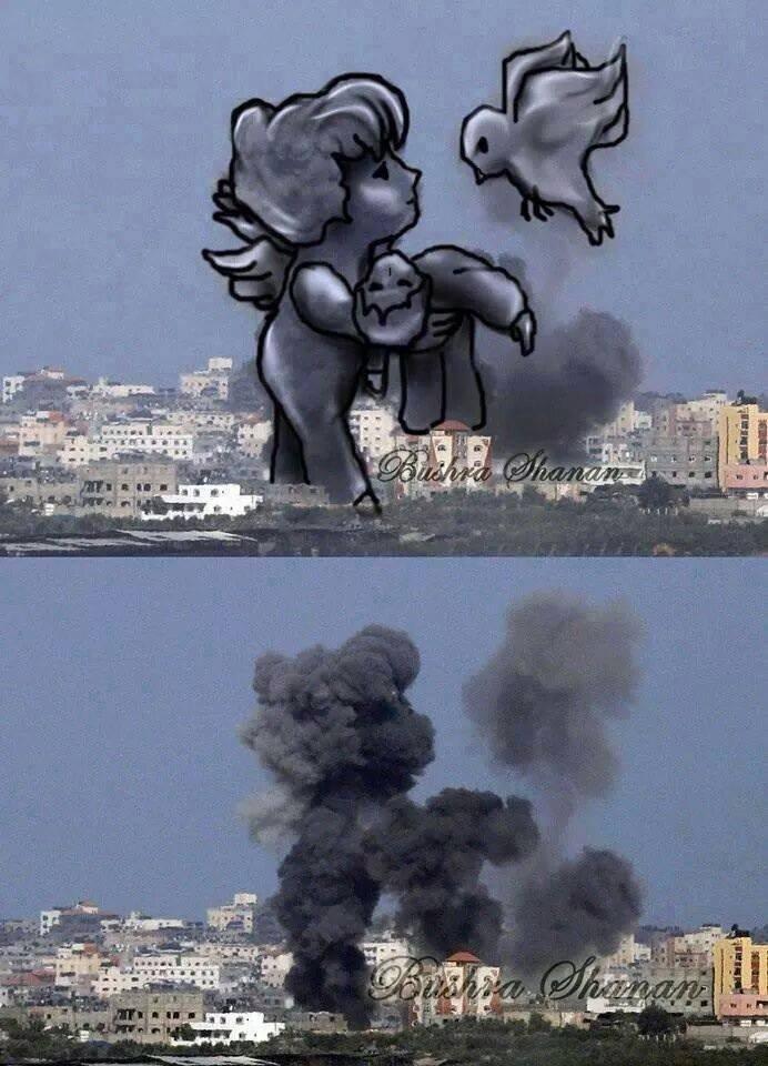 hush...he's asleep. . gaza palestine israel genocide humanity
