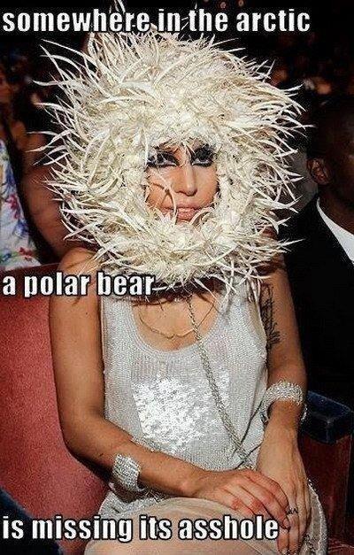 Lady GaGa. . ril-. - konradkurze, that makes no sense LOL.. 'repost so i gave me eye cancer'? you sure about that?