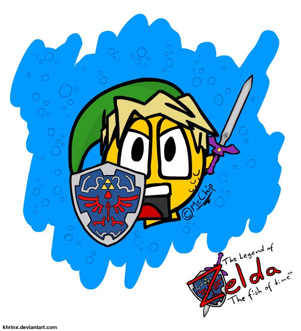 Legend of Zelda - The Fish of Time. From my friends DeviantART . Fan Art Zelda Fish comic character OoT ocarina OC original content Pie