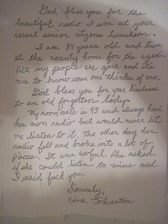 letter from grandma. . letter from grandma