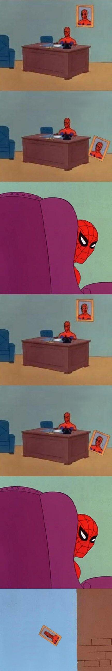 Like A Boss. LOL Work. was 1% W Spiderman meme comic