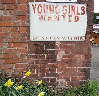 little girls wanted. good employment. little girls wan