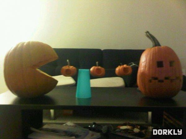 Pacman Pumpkins. .. waka waka waka Pacman Pumpkins waka