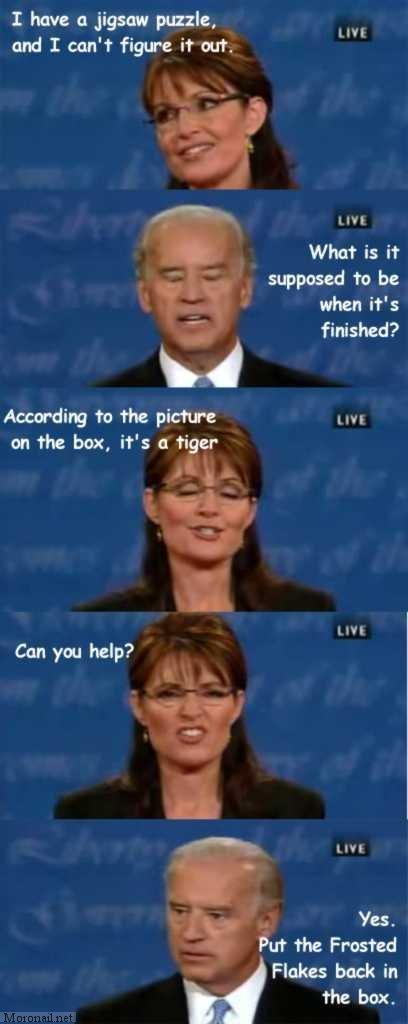 Palin's puzzle. .. haha palin Stupid puzzle bidin sex Boobs Penis
