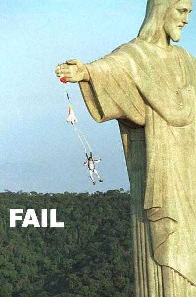 Parachute Fail. .. looks like... puts on sunglasses your in god's hands now YYYEEAAAAAHHH Parachute Fail looks like puts on sunglasses your in god's hands now YYYEEAAAAAHHH