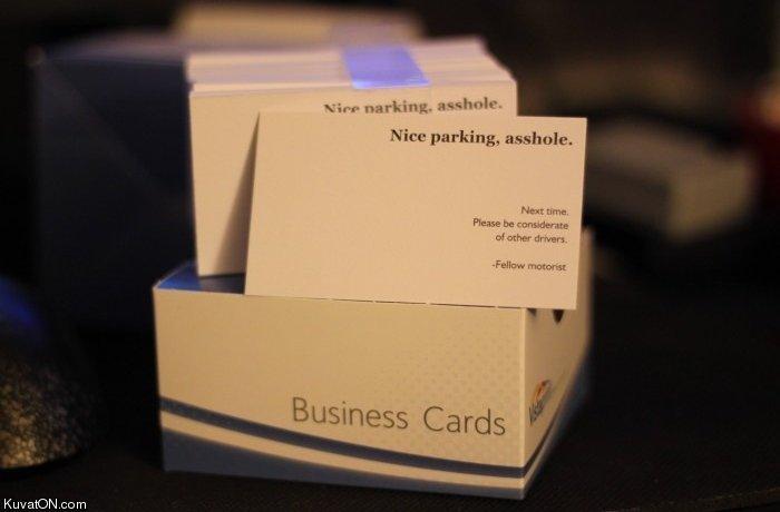 Parking Buisness Card. Do want. Kuvasz) . cam. me wants Parking buisness Card